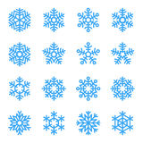 Set of snowflakes vector illustration Stock Image