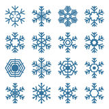 Set of snowflakes, vector illustration. Royalty Free Stock Images