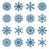 Set of snowflakes, vector illustration. Royalty Free Stock Image
