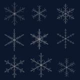 Set  snowflakes Stock Photos