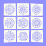 Set of snowflakes. Vector snowflakes set Winter Design Elements Stock Images