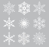 vector set of snowflakes Royalty Free Stock Images