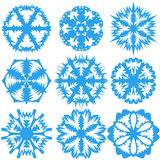 Set of snowflakes on a white background. Vector illustration Stock Images