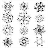 Set of snowflakes on a white background Stock Photo
