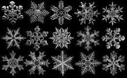 Set of snowflakes Royalty Free Stock Photos