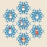 Set of Snowman pattern-illustration Stock Image