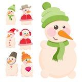 Set snowman stock illustration