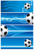 Set soccer background Royalty Free Stock Image