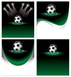 Set soccer background Royalty Free Stock Photo