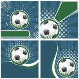 Set of soccer  background in retro style,  illustration Royalty Free Stock Images