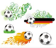 Set of soccer ball. Royalty Free Stock Photo