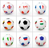Set soccer ball Royalty Free Stock Image