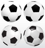 Set Of Soccer Ball, Football Vector On White Background, Sport  Royalty Free Stock Image