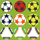 Set of soccer balls. Flat design,  illustration Stock Photography