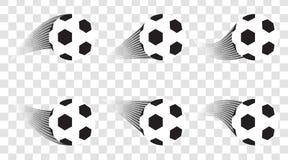 Set of Soccer balls. Football shot. Goal. Sport  design template. Royalty Free Stock Photo