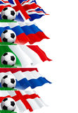 Set (2) of soccer banners Stock Image