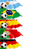 Set of soccer banners Royalty Free Stock Photo