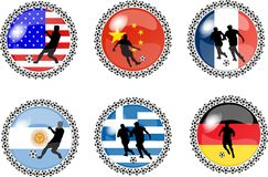 Set of soccer buttons 1 Stock Image