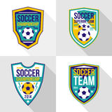 Set of soccer championship emblems Stock Photography