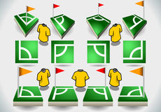 Set of Soccer Corner and Icons Stock Photos
