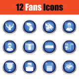 Set of soccer fans icons. Royalty Free Stock Photos