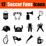 Set of soccer fans icons Royalty Free Stock Images