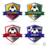 Set of soccer ( football ) badge Royalty Free Stock Photo