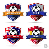 Set of soccer ( football ) badge Stock Image