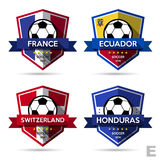 Set of soccer ( football ) badge Stock Photography