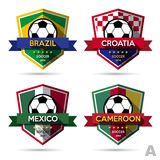 Set of soccer ( football ) badge Stock Photos