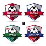 Set of soccer ( football ) badge Royalty Free Stock Photos