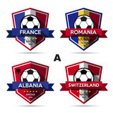 Set of soccer ( football ) badge Royalty Free Stock Photos