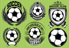 Set of Soccer Football Badge Logo Design Templates Stock Photo