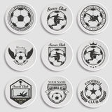 Set of Soccer Football. Badge Logo Design Templates Stock Photography