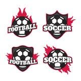 Set of soccer football badge logo design templates. Sport team. Logo design eps10 Stock Images