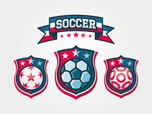 Set of Soccer Football Badge Stock Image