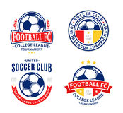 Set of Soccer Football Club Logo Royalty Free Stock Image