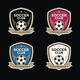 Set of soccer football crests and logo emblem designs Stock Photography