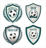 Set of soccer football emblem Stock Image