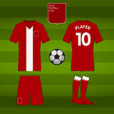 Set of soccer or football jersey template for your football club. Front and back view. Royalty Free Stock Photography