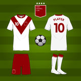 Set of soccer or football jersey template for your football club. Royalty Free Stock Photos