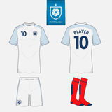 Set of soccer or football kit template for your sport club. Royalty Free Stock Images
