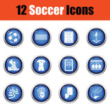 Set of soccer icons. Royalty Free Stock Photos