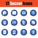 Set of soccer icons. Stock Images