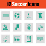 Set of soccer icons Stock Photography