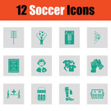 Set of soccer icons Stock Images