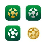 Set of soccer icons Stock Photo