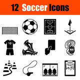 Set of soccer icons Royalty Free Stock Images