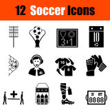 Set of soccer icons Stock Photos