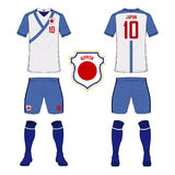 875962d23 Set of soccer jersey or football kit template for Japan national football  team. Front and